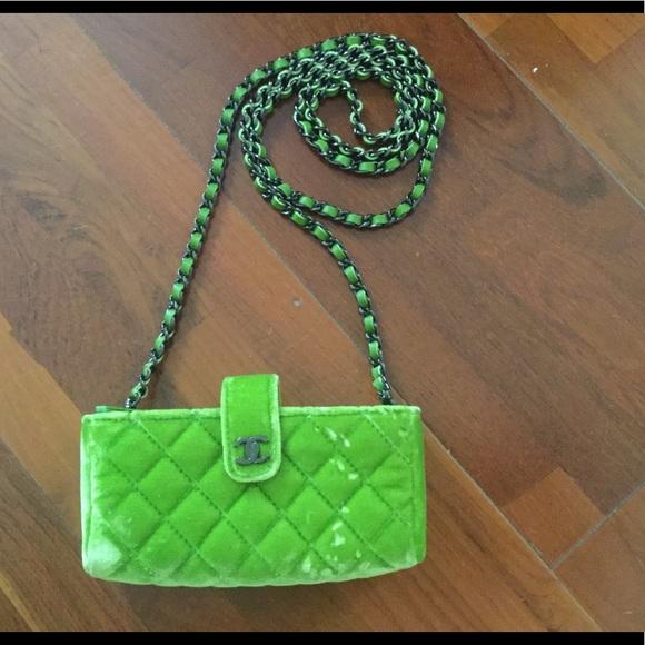 1b1bcdd7d8c8cd CHANEL Handbags - Authentic Chanel Velvet Mini Clutch